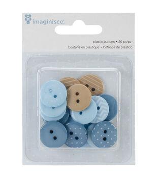 My Baby Boy Buttons 20/Pkg-Blue