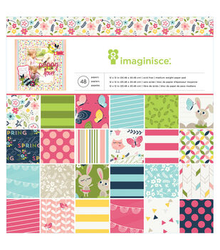 """Welcome Spring paper Pad 12""""X12"""" 48/Sheets-Single-Sided"""