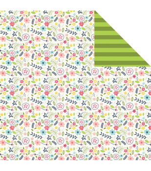Imaginisce Dainty Flower - Welcome Spring Double-sided Cardstock