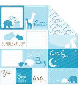 """My Baby Boy Double-Sided Cardstock 12""""X12""""-Cut-Outs"""