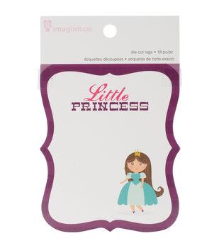 "Little Princess Die-Cut Journaling Tags 3""X3.5"" 18/Pkg-6 Designs/3 Each"
