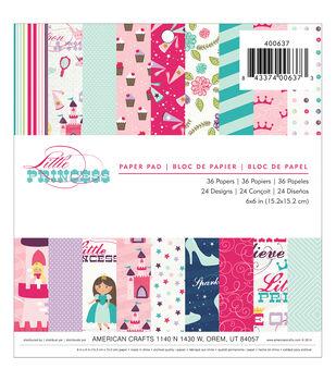 """Imaginisce Paper Pad 6""""X6"""" 36/Pkg-Little Princess"""