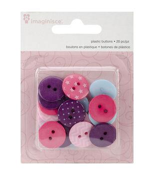 Little Princess Plastic Buttons 20/Pkg