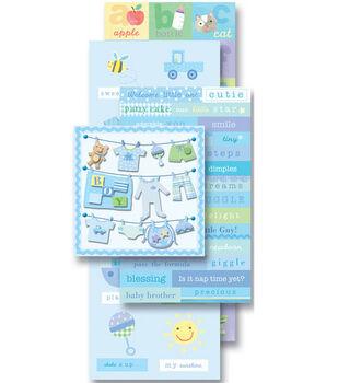 K & Company Sticker Embellishment Flip Pack-Baby Boy