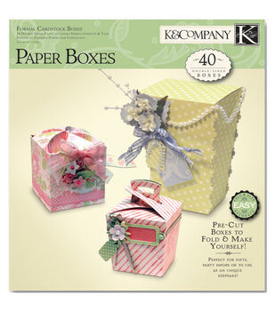 K & Company Scrabook Kit-Formal Boxes