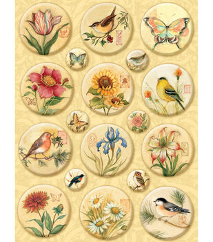K & Company Clearly Stickers-Nature