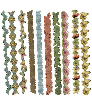 K & Company Adhesive Paper Borders-Nature