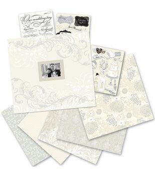 K & Company 12''x12'' Postbound Scrapbook Kit-Classic Wedding