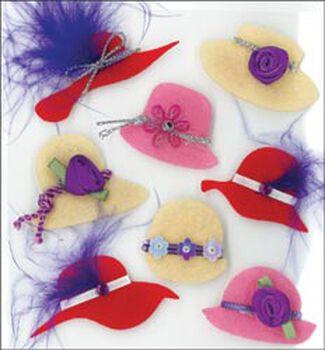Craft Essentials Red Hats Embellishment