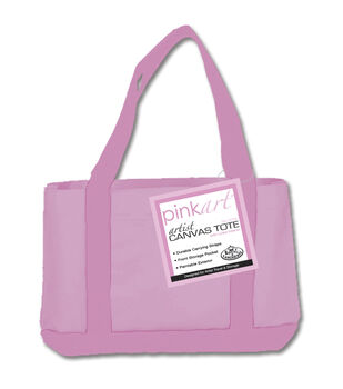 "Royal Brush Pink Art Artist Canvas Tote-17""X12"""