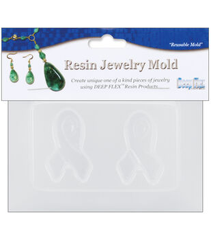 """Yaley Resin Jewelry Reusable Plastic Mold 3.5""""X4.5-2 Small Ribbons"""