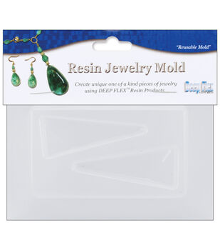"""Yaley Resin Jewelry Reusable Plastic Mold 3.5""""X4.5""""-Triangle"""