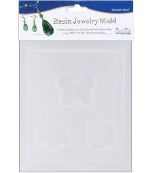 """Yaley Resin Jewelry Reusable Plastic Mold 4.5""""X6.5-Butterfly"""