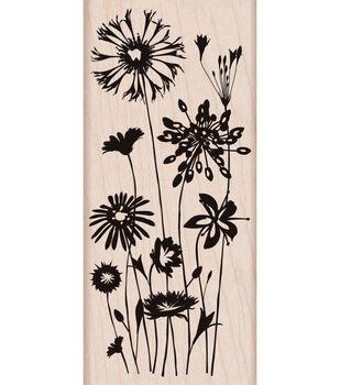 Hero Arts Mounted Stamp-Wild Flowers