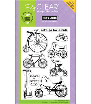 "Hero Arts Clear Stamps 4""x6"" Sheet-Joy Ride"