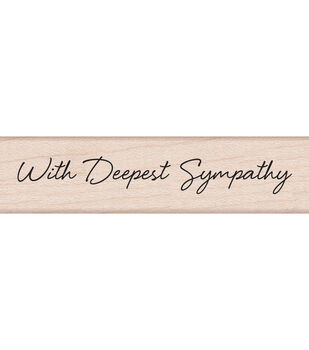 """Hero Arts Mounted Rubber Stamps 3""""X1.5""""X1""""-Little Greetings With Deepest Sympathy"""