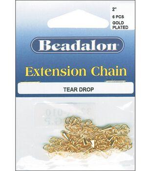 Beadalon 2'' Extension Chain-6PK/Gold