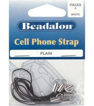 Beadalon Cell Phone Strap-6PK/Black