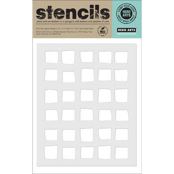 Hero Arts Stencils-Irregular Checkerboard Background