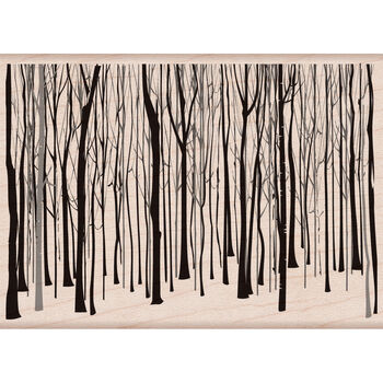 Hero Arts Mounted Rubber Stamps Winter Trees Pattern