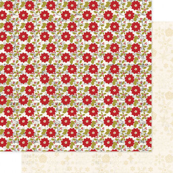 Heidi Swapp Believe Double-Sided Cardstock Paper Holly Jolly