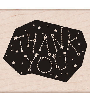 """Hero Arts Mounted Rubber stamps 3.5""""X3.25""""-Thank You Constellation"""