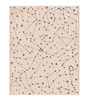 """Hero Arts Mounted Rubber stamps 4.25""""X5.5""""-Constellation Background"""