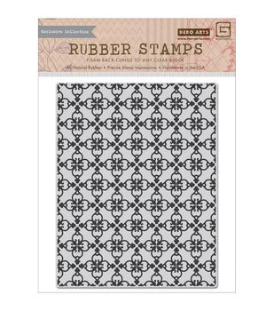 Basic Grey Herbs & Honey Cling stamps By Hero Arts-Tile Background