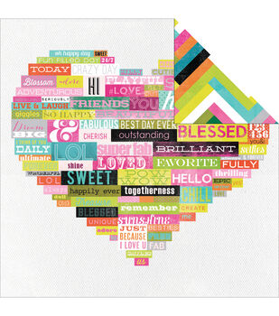 """Favorite Things Double-Sided Cardstock 12""""X12""""-Wordy"""