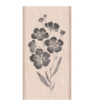 """Hero Arts Mounted Rubber Stamps 4""""X2""""-Flowers On A Stem"""