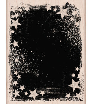 """Hero Arts Mounted Rubber Stamps 4.25""""X3.25""""-Star Galaxy"""