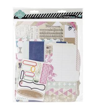 """Heidi Swapp Mixed Media Scrapbook Album Kit 9""""X11.5""""-Cardstock Memory Files"""