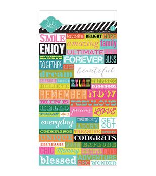 Favorite Things Cardstock Stickers-Word Jumble