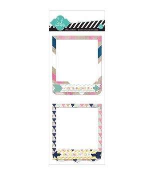 Hello Today Self-Adhesive Dimensional Frames 2/Pkg-