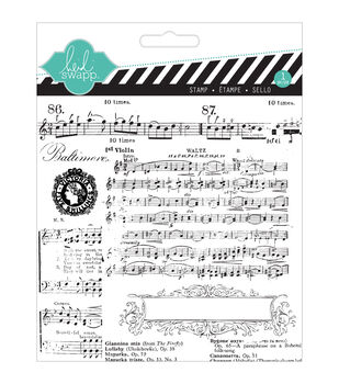 """Heidi Swapp Mixed Media Clear Stamps 5.5""""X5.5""""-Music Notes"""