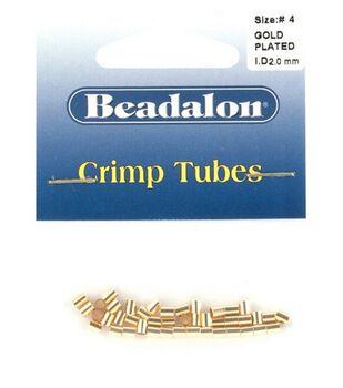 Beadalon 2.5mm Outer/2mm Inner/3mm Length Crimp Tubes-1.5gr/Gold