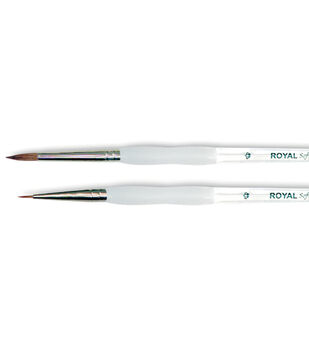 Royal Brush-Soft-Grip Pure Sable Detail & Round Brushes-Size 0