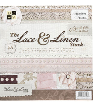 Die Cuts With A View Premium Cardstock Stack Lace & Linen