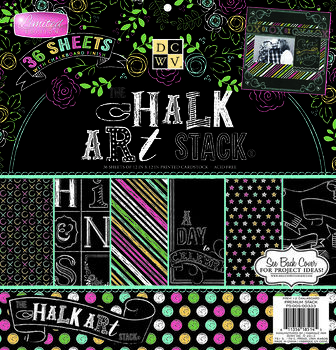 Die Cuts With A View Chalkboard Premium Stack