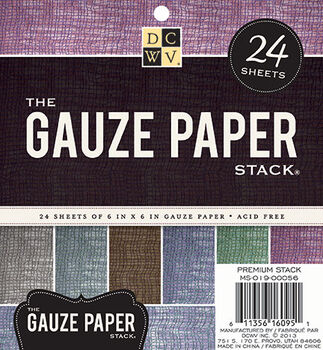 DCWV 6''x6'' Gauze Paper Stack