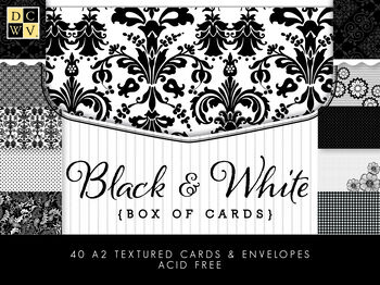DCWV Box of Cards: Black and White