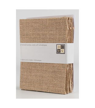 DCWV A2 10 pack card and envelope set: Burlap