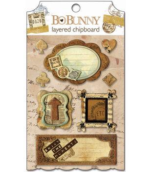 Bo Bunny Et Cetera Self-Adhesive Layered Chipboard