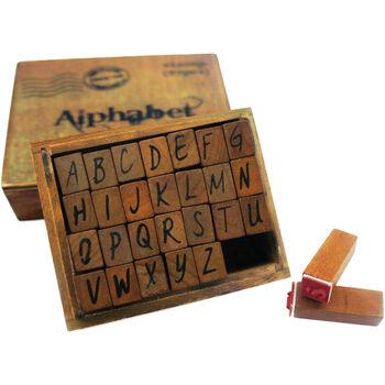 Bo Bunny Kraft Wood Alphabet Stamps Upper Case