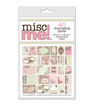 Bo Bunny Misc Me Journal Pack Primrose