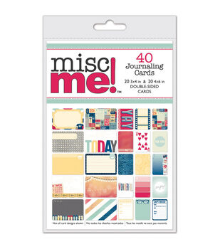 Bo Bunny Misc Me Journal Pack Modern Miss