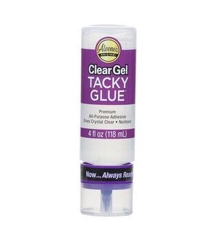 """Aleene's Always Ready Clear Gel """"Tacky"""" Glue-4oz"""