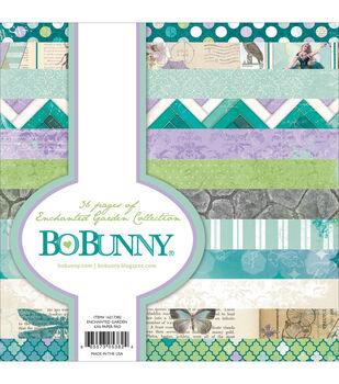 "Bo-Bunny Paper Pad 6""X6"" 36/Pkg-Enchanted Garden"