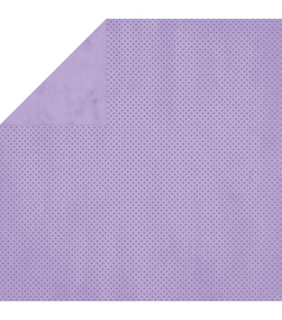 """BoBunny Double Dot Double-Sided Textured Cardstock 12""""X12""""-Lavender"""