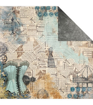 """Somewhere In Time Double-Sided Cardstock 12""""X12""""-Chrononaut"""